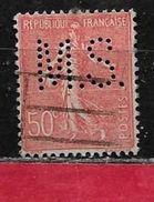 @ Perfin  Y.T N° 199    Perforé   M.S. 117   Indice 2 - Gezähnt (Perforiert/Gezähnt)