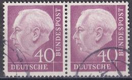 5_ Bund -  Mi.Nr. 188 - Gestempelt Used - Waagerechtes Paar - Used Stamps