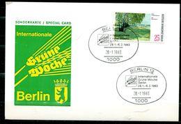 """Sonderkarte Germany Berlin 1983 Internationale.Grüne Woche M. Mi.Nr.424 U.SST""""Berlin 12- Intern.-Grüne Woche""""1 AK Used, - Factories & Industries"""