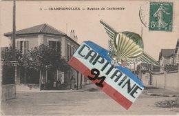 CPA CHAMPIGNOLLES EURE AVENUE DU CENTENAIRE - Otros Municipios