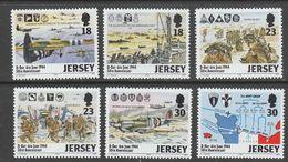 SERIE NEUVE DE JERSEY - CINQUANTENAIRE DU DEBARQUEMENT ALLIE EN NORMANDIE N° Y&T 653 A 658 - 2. Weltkrieg