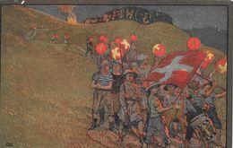 BUNDESFEIER-POSTKARTEN - 1912 Lampionumzug SBK-4 - Ganzsachen