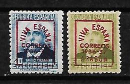 ESPAÑA SPAIN ZARAGOZA YVERT 10, 12 MNH** - Emisiones Nacionalistas