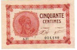 Billet Necessite Bons Chambre Commerce  PARIS  N°4    10-3-20 - Chambre De Commerce