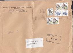 Belgium GENERALE BANQUE BELGE L'ETRANGER, BRUXELLES 1993 Cover Lettre Denmark 5x Bird Vogel Oiseau Timbres - Barbades (1966-...)