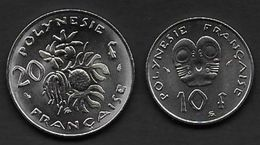 POLYNESIE FRANCAISE  - 10 Fr  Et  20 Fr  De 1979 ( Pièces Neuves , Jamais Circulé ) - French Polynesia