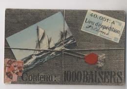 COLIS  - Contenu :  1000 Baisers - Carte Postale Sous Une Ficelle -  Orléans - Fantasia