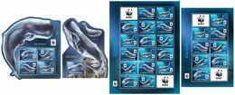 S. TOME & PRINCIPE 2017 - WWF Sperm Whale. Complete IMPERF. Set - W.W.F.