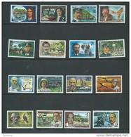 Christmas Island 1977 Famous Visitor Definitive Set 16 MNH - Christmas Island