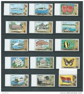 Kiribati 1979 Scene Definitives Set 15 Fine  MNH  Ship Flower Flag Watermarked -> $2, $5 Flag Unwatermarked - Kiribati (1979-...)