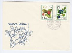 1977 POLAND FDC Stamps FRUIT STRAWBERRY Etc Cover - Fruits