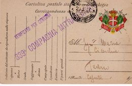 Corrispondenza 1° Guerra Mondiale -Cartolina  Posta Militare In Franchigia Per Teano - - Caserta