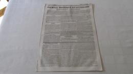 CIRQUE FRANCAIS - LA TROUPE DE MM. VIDAL Et ROBBA - SPECTACLE  DE TOURNOI - REPRESENTATION - JOURNAL DE TOULOUSE DE 1837 - Journaux - Quotidiens
