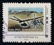 """Timbre Personnalisé : Musée Rural Et Artisanal """" La Bertauge """" En Somme - France"""