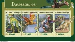 SAO TOME E PRINCIPE 2016 SHEET DINOSAURES DINOSAURIERN DINOSAURIOS DINOSSAUROS DINOSAURI DINOSAURS St16409a - Sao Tome And Principe