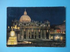 Vaticano - Roma - Piazza S San Pietro - Notturno - Viaggiata 1967 - Annullo Cecchignola - Vaticano