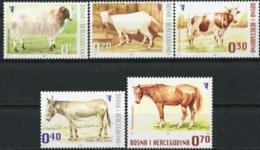 BOSNIA AND HERZEGOVINA 2007 Domestic Animals, Sheep, Goat, Cow, Horse, Fauna MNH - Bosnia And Herzegovina
