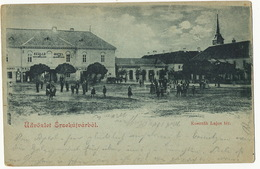 Udvozlet Ersekujvarbol Kossuth Lajos Ter.   Nové Zamky Undivided Back - Slovaquie