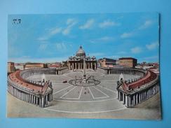 Vaticano - Roma - Basilica E Colonnato Del Bernini - Viaggiata 1986 - Vaticano