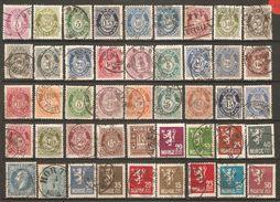 45 Timbres Anciens De Norvège ) - Norvège