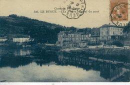 LE BUGUE, La Vézère En Aval Du Pont -1928- Bon état - Frankreich