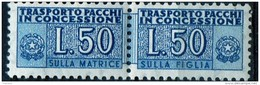 PIA - Specializzazione  :1955 :  PACCHI CONCESSIONE : £ 50 - (SAS 6 - CAR 9) - 6. 1946-.. Repubblica