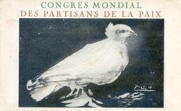 Affiche  De Picasso - Colombe - Congré Mondial Des Partisans De La Paix - Paris - Salle Pleyel - Events