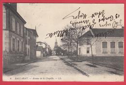 CPA* 54 * BACCARAT _ Ann. 1910 * Avenue De La Chapelle- Animation **SCANN Rect & Verso  * - Baccarat