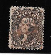 ETATS UNIS D'AMERIQUE YVERT NR. 21 OBLITERE AN 1861 THOMAS JEFFERSON TTB AVEC 2 CERTIFICATIONS D'EXPERTS AU DOS DU TIMBR - 1847-99 Algemene Uitgaves