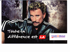 CREDIT MUTUEL, Johnny Hallyday, Toute La Différence Est Là. Photo André RAU, Ed. Universal Merchandising 2003 - Banks