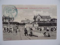 50 SAINT-PAIR-Sur-MER Descente De Plage & Casino Tampon Hôpital Temporaire N°11 Fougères Militaire Guerre 1914 1918 - Saint Pair Sur Mer