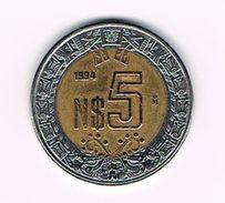 )  MEXICO  5 NEW  PESOS 1994 - Mexique