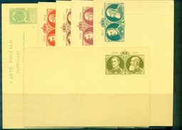 BELGIQUE CPEP 5c Vert Repiquées Série De 6 Différentes 1905 Neuves TB. - Stamped Stationery