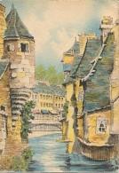 CPSM - ILLUSTRATION BARDAY - QUIMPER - Vieilles Maisons Sur Le Steïr - Edition Barre Dayez / Série 2053 D - Barday