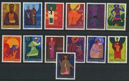 LIECHTENSTEIN   Série Courante   Patrons D'eglises   N°  Y&T  434 à 445  ** - Unused Stamps