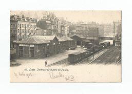 Liège   Intérieur De La Gare Du Palais (1903). - Luik