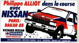 Autocollant  - Automobile Nissan - Philippe Alliot Dans La Course Avec Nissan Paris/Dakar 88 - Autocollants