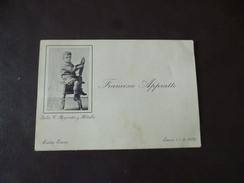 Carte De Visite Italie Italia Francisco Apprato Santa Lucia Lulio C. Appratto Aldabre TBE - Visitekaartjes