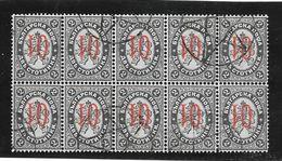 BULGARIE BULGARIA YVERT NR. 41a OBLITER RARISIME TIR DE 10 SURCHARGE REENVERSE AVEC CERTIFICATION D'EXPERT AU DOS - 1879-08 Prinsdom