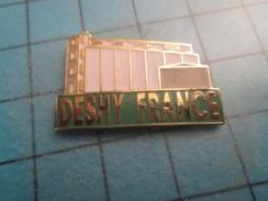 Pin412a Pin's Pins : Rare Et Belle Qualité : DESHY FRANCE BATIMENT SILO ? - Marques