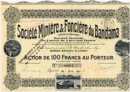 Action Ancienne - Sté Minière & Foncière Du Bandama - Cote D' Ivoire -Titre De 1911 - Afrique