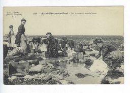 CPA Fécamp Saint Pierre En Port Les Laveuses à Marée Basse N° 1198 L.J. - Fécamp