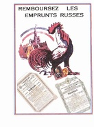 REMBOURSEZ LES EMPRUNTS RUSSES, Marteau Et Faucille, Coq, Clocher De Vollage, Ed. ? 1990 Environ - Banken
