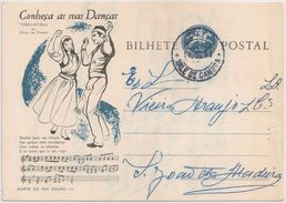 Portugal Inteiro Postal Stationery - Conheça As Suas Danças - Torradinhas Povoa Do Varzim Nº11 - Carimbo Vale De Cambra - Postwaardestukken
