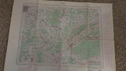 DIJON FAUVERNEY ST JEAN DE LOSNE TAVAUX DOLE THERVAY VIELVERGE BRANS CHAMPAGNEY PONTAILLER SAUVIGNEY CHAMPVANS - Cartes Géographiques