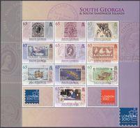 South Georgia 2010 - Timbres Sur Timbres, Expo London 2010 - 10 Val Neufs // Mnh - Géorgie Du Sud