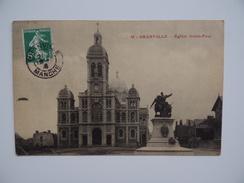 50 GRANVILLE Lot De 2 Cartes Eglise Saint-Paul & Statue De Pléville-Le-Pelley Jean Magrou - Granville