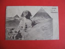 CPA  SPHINX ET PYRAMIDES   -  C  1893 - Egitto