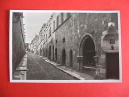 CARTOLINA  RODI VIA DEI CAVALLIERI    -  C  1897 - Grecia