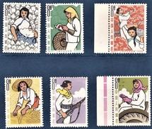 CHINE 1964 Métiers   La Femme Dans La Communauté  (6 Valeurs). - 1949 - ... République Populaire